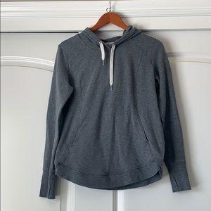Zella Gray Hooded Sweatshirt M
